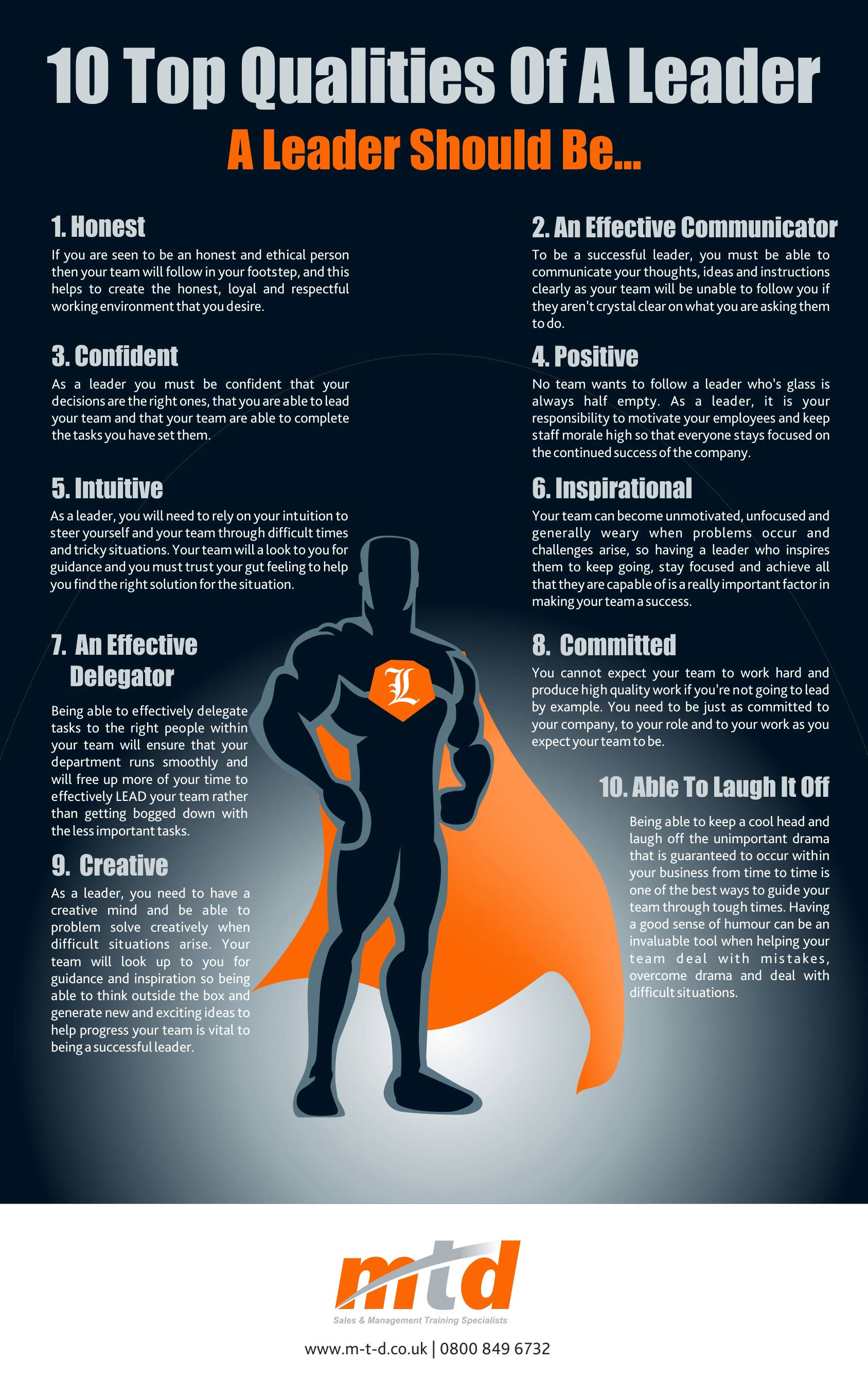 top qualities of a leader infographic click here to the full size version of the infographic