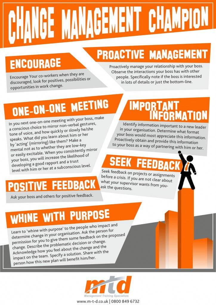 Change Management Champion- Infographic